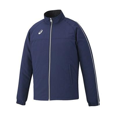 アシックス(asics) メンズ ストレッチクロスジャケット ネイビー XAT534 50 トレーニングウェア スポーツウェア 上着 長袖 アウター