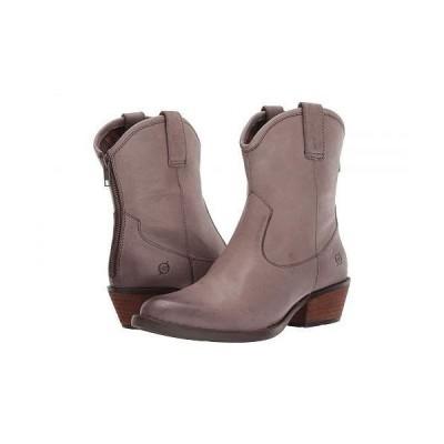 Born ボーン レディース 女性用 シューズ 靴 ブーツ アンクルブーツ ショート Wynd - Grey Full Grain Leather
