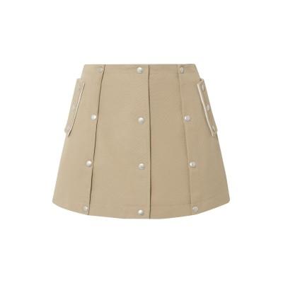 COURREGES ミニスカート ベージュ 42 コットン 100% ミニスカート