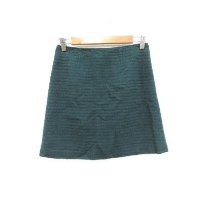 【中古】プロポーション ボディドレッシング PROPORTION BODY DRESSING ミニスカート 台形 起毛 ウール 2 緑 グリーン /CT レディース 【ベクトル 古着】