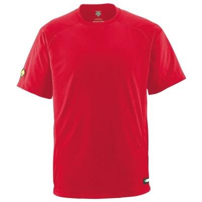 DESCENTE(デサント) ジュニアベースボールシャツ(Tネック) JDB200 レッド(RED) 140