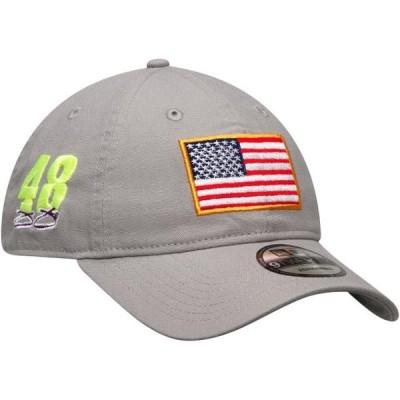 ユニセックス スポーツリーグ モータースポーツ Jimmie Johnson New Era USA Flag Salutes 9TWENTY Adjustable Hat - Gray - OSFA