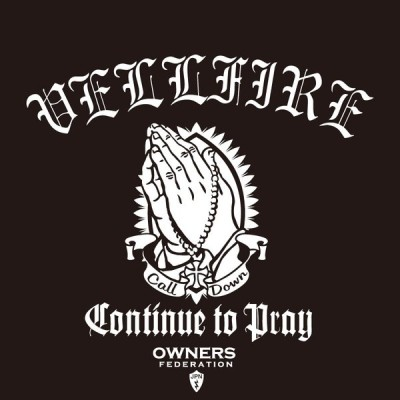 カッティングステッカー トヨタ(TOYOTA)ヴェルファイア VELLFIRE prayhands 車 カー ステッカー アクセサリー シール ガラス[◆]