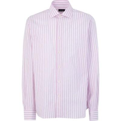 アンジェロ ナルデッリ ANGELO NARDELLI メンズ シャツ トップス Striped Shirt Lilac