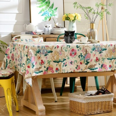 テーブルクロス テーブルカバー テーブルマット コットンリネン生地 厚手 耐久性 おしゃれ パーティー 誕生日 ダイニング キッチン 家庭 ホテル アウトドア