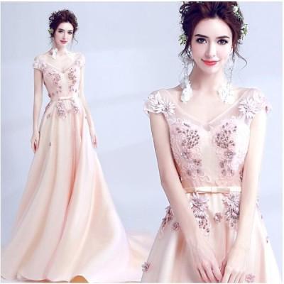ウェディングドレス エンパイア 二次会ドレス 花嫁ドレス 大きいサイズ パーティー ロングドレス 演奏会 イブニングドレス カラードレス 成人式