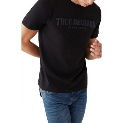 トゥルー レリジョン TRUE RELIGION BRAND JEANS メンズ Tシャツ ロゴTシャツ トップス Arch Logo Graphic Tee Onyx