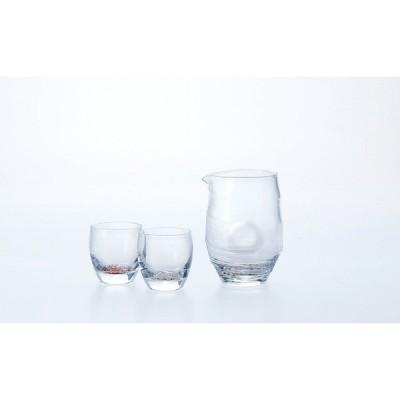 東洋佐々木ガラス 冷酒杯揃え(紅白梅柄) G087-H99 片口 冷酒グラス 盃 杯