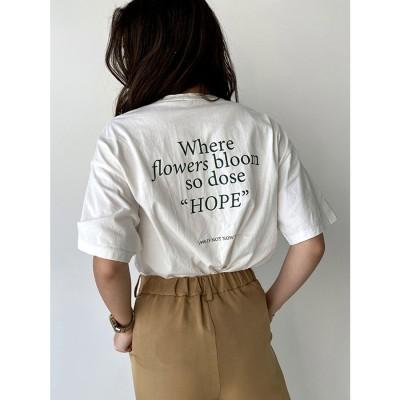 エイミーイストワール eimy istoire ホープロゴTシャツ (WHITE)