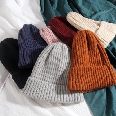 ニット帽 レディース メンズ ユニセックス 帽子 ファッション フリーサイズ 防寒 ペア リブ編み 無地 くすみ 男女兼用 秋冬 シンプル 送料無料