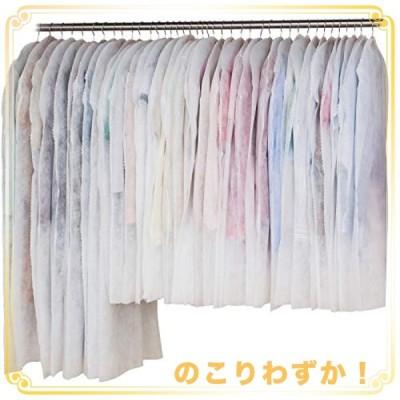 アストロ 洋服カバー 40枚 (スーツ30枚ロング10枚) 両面不織布 フリル調 605-11