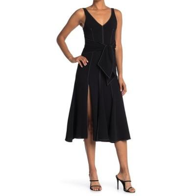 サンクアセプト レディース ワンピース トップス Stasia Dress BLACK/IVORY