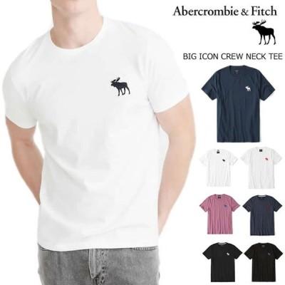 アバクロ Tシャツ メンズ ビッグムース 半袖 クルーネック 丸首 Abercrombie&Fitch