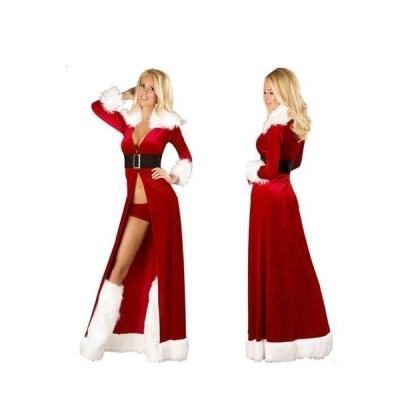サンタ衣装 コスプレ クリスマス衣装 クリスマスイベントの必需アイテム クリスマス/イベント/コートサンタ衣装セット ウォーマー付 キャバクラ