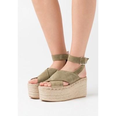 ジン サンダル レディース シューズ High heeled sandals - khaki