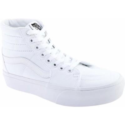 バンズ レディース スニーカー シューズ SK8-Hi Platform 2.0 High Top True White/True White Textile