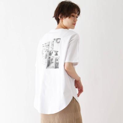 シューラルー SHOO-LA-RUE 接触冷感 転写プリントTシャツ (オフホワイト)