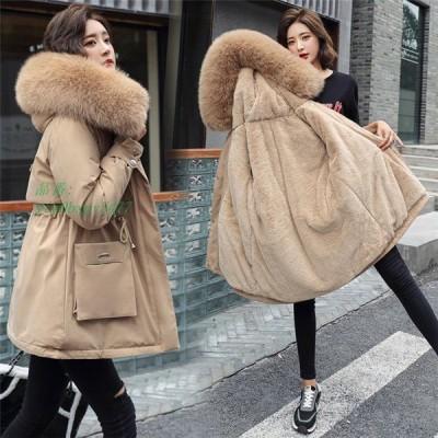 コート ジャケット フード付き アウター 防寒 ボアコート 暖かい ファーコート ファー レディース 冬 モッズコート フェイクファー付 もこもこ ショートコート