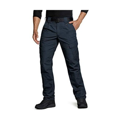 CQR Men's Tactical Pants, Water Repellent Ripstop Cargo Pants, Lightweight EDC Hiking Work Pants, Outdoor Apparel, Duratex(tlp108) - Navy, 3