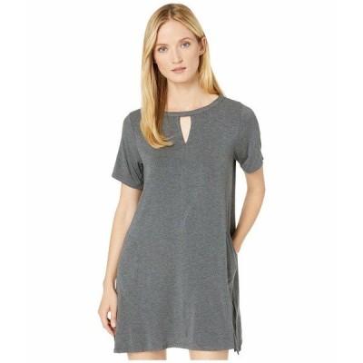 ダナキャラン ナイトウェア アンダーウェア レディース Modal Spandex Jersey Short Sleeve Sleepshirt Charcoal Heather