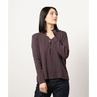 tシャツ Tシャツ オーガニックコットン襟フリルプルオーバー