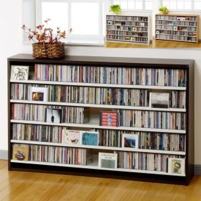 幅139.2cm CD695枚収納 コレクター仕様CDラック CDラック CD 収納 木製 大容量 おしゃれ デザイン プロ 業務用 ショップ 大量 本棚 イ