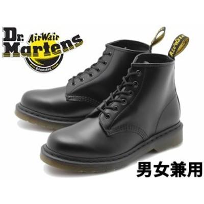 ドクターマーチン 101 6ホール ブーツ 男性用兼女性用 DR.MARTENS R24255001 ブラック(01-10330201)