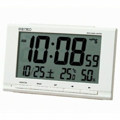 セイコークロック SEIKO 電波目ざまし時計 SQ789W