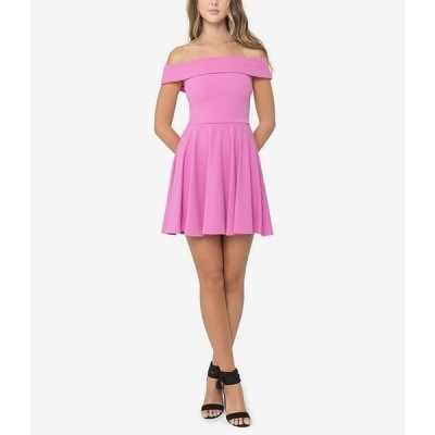 ビーダーリン レディース ワンピース トップス Off The Shoulder Cap Sleeve Fit-and-Flare Dress