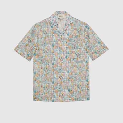 リバティ ロンドン  フローラル ボウリングシャツ
