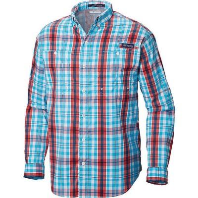 (取寄)コロンビア メンズ スーパー タミアミ ロングスリーブ シャツ Columbia Men's Super Tamiami LS Shirt Atoll Multi Plaid 送料無料
