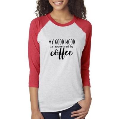 レディース 衣類 トップス Mood Sponsored by Coffee Womens 3/4 Sleeve Shirt Tシャツ