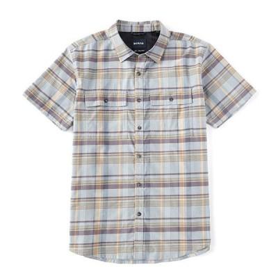 プラーナ メンズ シャツ トップス Prana Kirkwood Performance Stretch Short-Sleeve Recycled Materials Woven Shirt