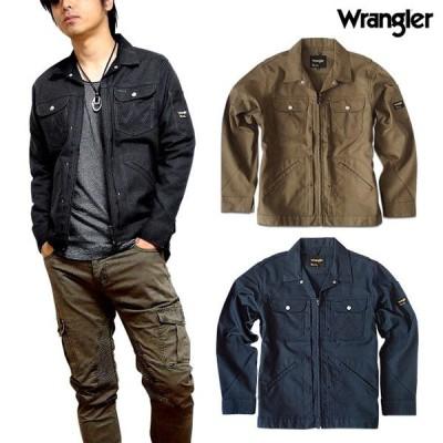 Wrangler ラングラー ワークジャ ケット ジップアップ メンズ ア ウター ジャケット  羽織り ブラック 秋 春 LL 3L