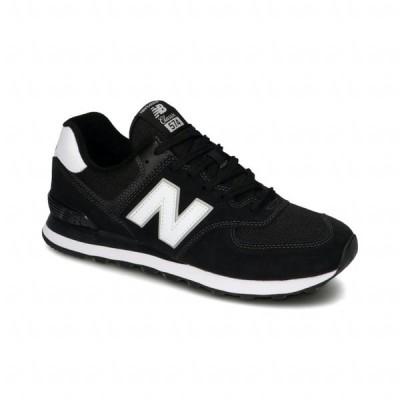 ニューバランス ML574 2E EE2 メンズ スニーカー : ブラック×ホワイト New Balance