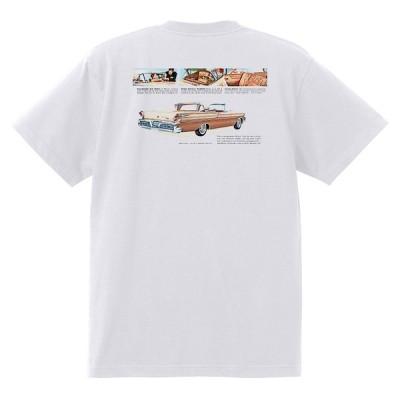 アドバタイジング マーキュリーTシャツ 白 1213 黒地へ変更可 1958 パークレーン モントレー モントクレア ホットロッド レトロ