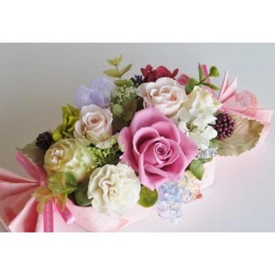 母の日 プリザーブドフラワー 退職  ギフト アレンジ 華やか ピンク 誕生日 結婚 お祝い バースデー 贈答 ケースつき 条件付き送料無料