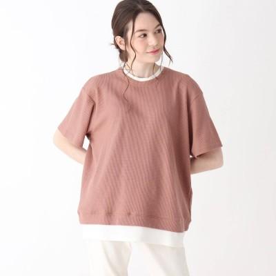 キューティーブロンド Cutie Blonde 【S-L】ワッフルフェイクTシャツ (ライトオレンジ)