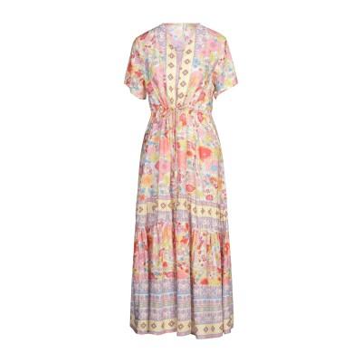CARE OF YOU ロングワンピース&ドレス ホワイト S/M レーヨン 100% ロングワンピース&ドレス