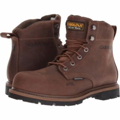 カロリナ Carolina メンズ ブーツ ワークブーツ シューズ・靴 6 Waterproof Work Boot CA9536 Mohawk RW/Brown Leather Upper