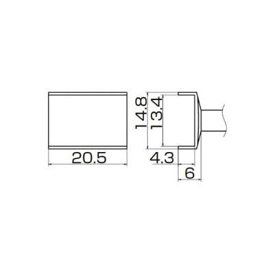 【代引不可】 白光 こて先 トンネル 13.4mmX20.5mm 【T121009】