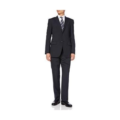 [ハルヤマ] メンズスーツ シングル ツーパンツ オールシーズン プリーツ加工 ネイビー M101180004 AB7(身長175-180、?