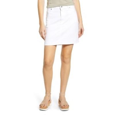 7フォーオールマンカインド レディース スカート ボトムス Denim Mini Skirt WHITERUNWY