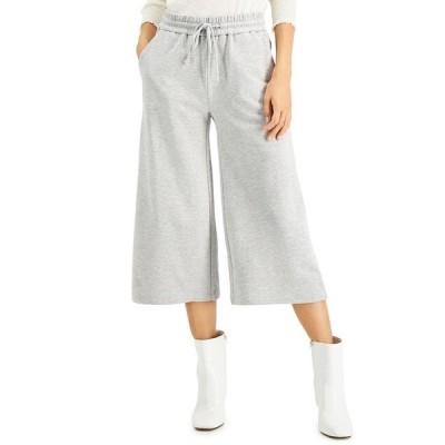 アイエヌシーインターナショナルコンセプト カジュアルパンツ ボトムス レディース INC Cropped Wide-Leg Sweatpants, Created for Macy's Heather Belle Grey
