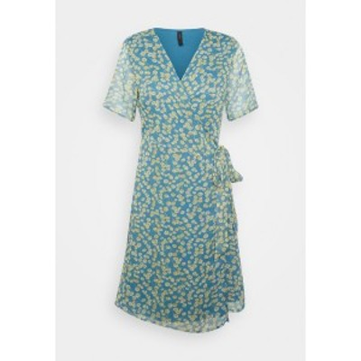 ヤス レディース ワンピース トップス YASCLARIS SUMMER WRAP DRESS  - Day dress - blue heaven/claris blue heaven/claris