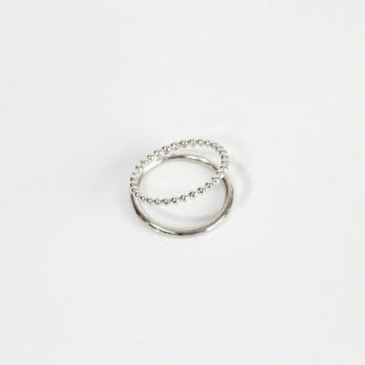 siki(シキ) / silver シルバードットダブルリング / SK-R45-SV レディース 指輪 ギフト プレゼント アクセサリー ジュエリー 記念日 20代 30…