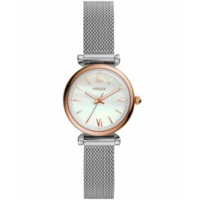 フォッシル レディース 腕時計 アクセサリー Carlie Mini Three-Hand Stainless Steel Watch 28mm Two Tone