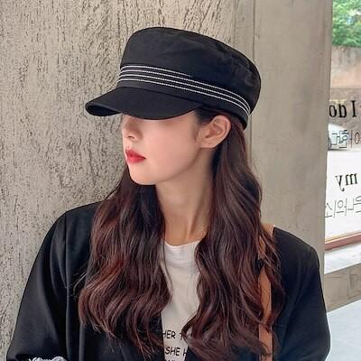 新作 ベレー 韓国ファッション 秋 女 個性 ハット 八角帽 シンプルハンチング mm49