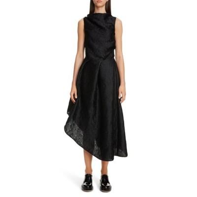 セシリー・バンセン ワンピース トップス レディース Elba Wave PlissAsymmetrical Dress Black