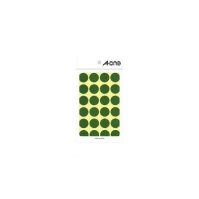 A-one(エーワン) [07043] カラーラベル 丸型 20mmφ 緑【1P14シート(336片)】 4906186070430 ポイント5倍